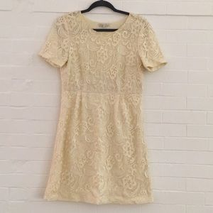 Madewell Broadway & Broome ivory lace dress